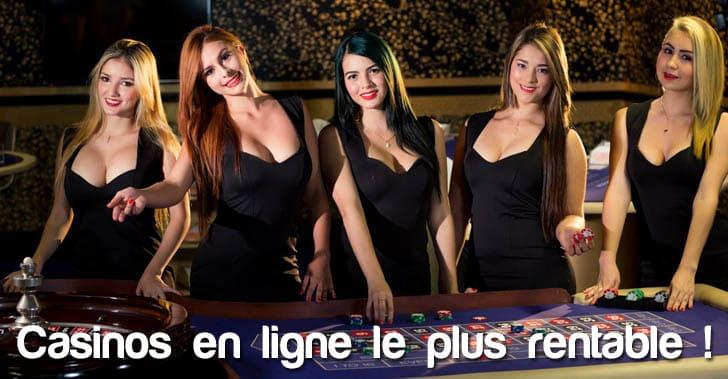 Liste des casinos en ligne les plus rentables