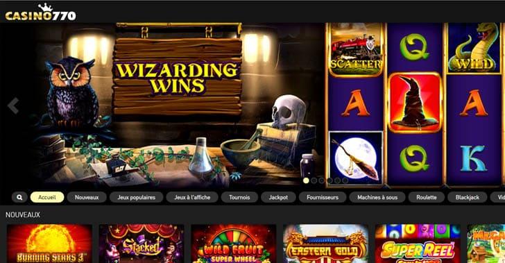 Avis Casino770 : Un casino en ligne sérieux