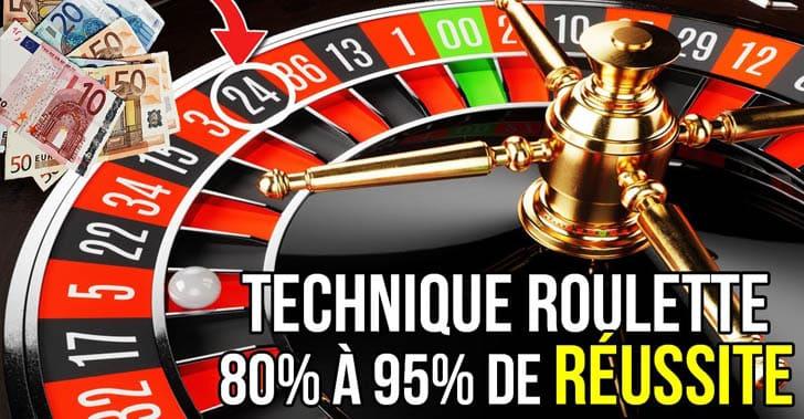 La technique de la roulette rouge / noir